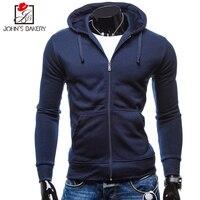John S Bakery 2017 Mens Hoodie Pocket Male Casual Sweatshirt Hooded Hoodies Long Slim Zipper Coat