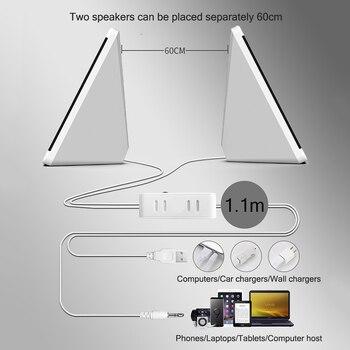 USB Wired Computer Speakers 2 Pieces PC Elevation Angle Horns for Laptop Desktop Phone Audio Speaker Multimedia Loudspeaker 5