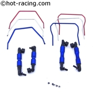 Front and Rear Sway Bar Set for Traxxas 4x4 Slash LCG 4x4 Slash and 1/10 Rally Vehicles