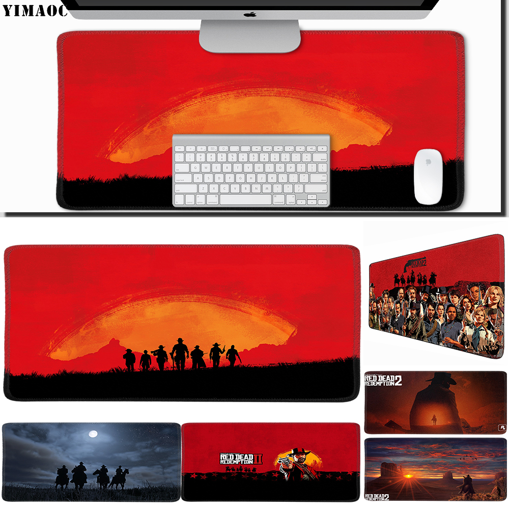 Computer Peripherals Systematic Yimaoc 30*60 Cm Large Mouse Pad Gamer Mousepad Rubber Gaming Desk Mat With Locking Edge Red Dead Redemption 2 Mouse & Keyboards