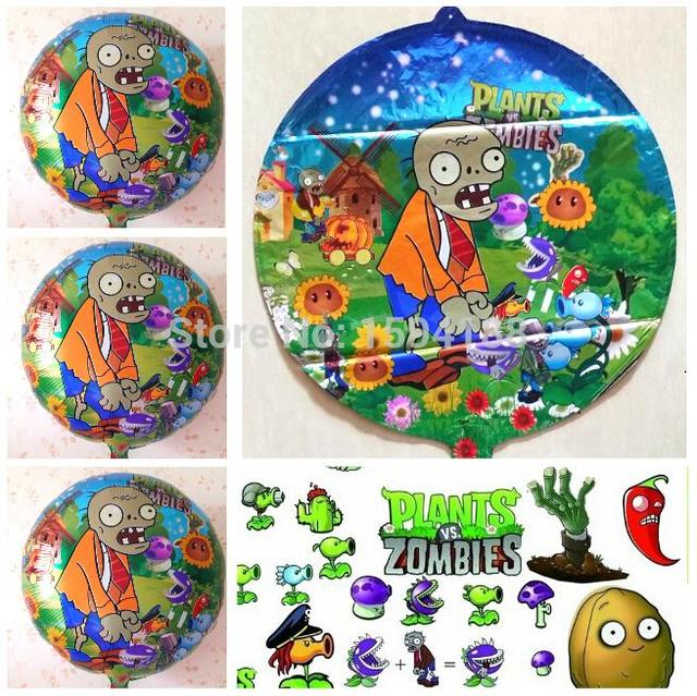 new arrival 20pcslot aluminum foil plants vs zombies balloon cartoon globos party balloon mylar