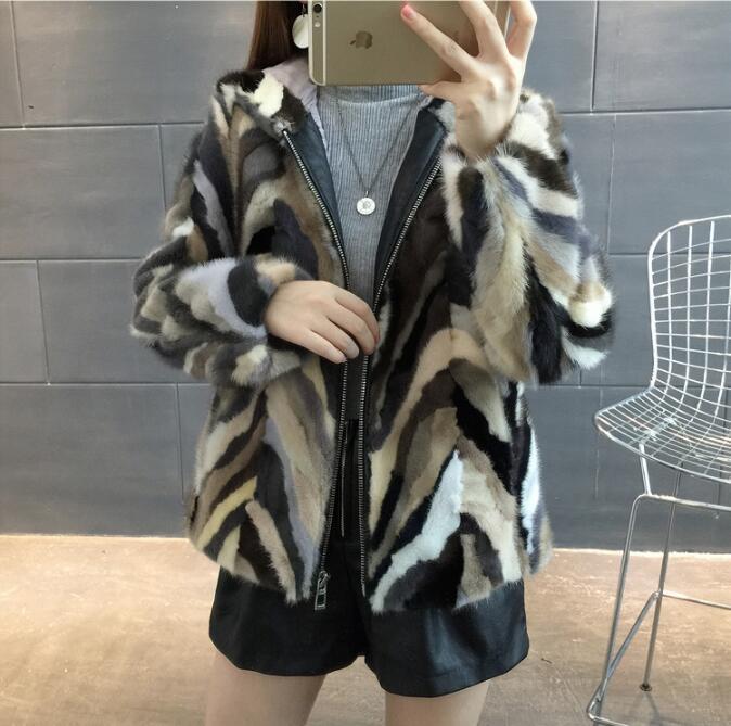 Manteau Épais Avec Haute Capot Vison De Éclair Et Véritable Réel Marque Veste Fermeture Mode Chaud Fourrure Ksr424 nFtzx8rnH