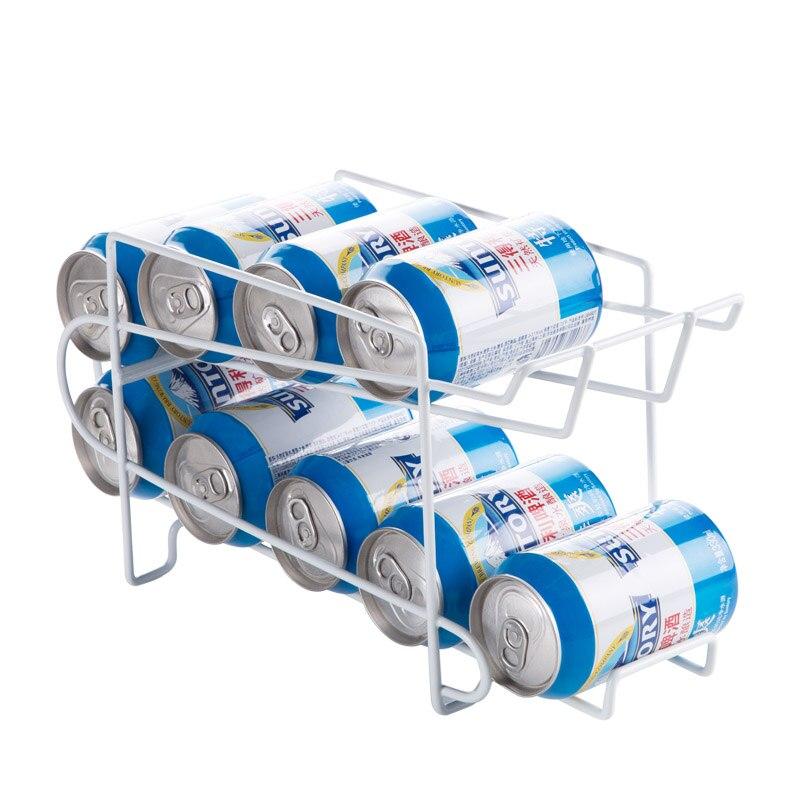 Двухслойный органайзер для хранения банок держатель для бутылок для напитков холодильник холодильная стойка для хранения экономии пространства кухонные аксессуары