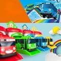 4 шт./компл. Макет Тайо Маленький Автобус Дети Миниатюрный Автобус Пластиковые Детские Tayo Автобус араба oyuncak Car Kids Toys Christmas подарок