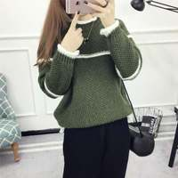 Pullovers 2017 New Women S Clothing Autumn Winter Knitted Sweater Ladies Bottoming Long Sleeve Plus Size
