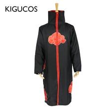 KIGUCOS Naruto Akatsuki Cosplay kostümleri Tobi parti kıyafet Uchiha Itachi pelerin Uchiha Sasuke Taka şahin pelerin cadılar bayramı kostümleri