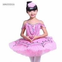 2017 Songyuexia New Children Ballet Skirt Ballet Practice Uniforms Dress Dance Skirt Poncho Skirt Small Swan