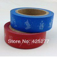 Color 2 Holidays And Paper Tape Lovely Paper Decoration Christmas Handmade Gift DIY Japan Tape 2pcs