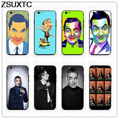 Mr. Bean Johnny English Rowan Sebastian Atkinson tpu+pc phone case for iphone 5 5s se 6  ...