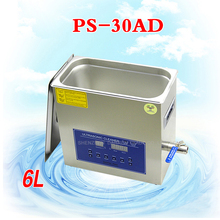 2PC 110V/220V New Arrival Ultrasonic cleaner Dual-band dual power PS-30AD / electronic products 28/40KHz / 180W / 6L