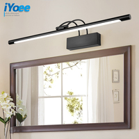 bathroom LED mirror light bedroom Wall lamp vanity lamps Waterproof Modern Black Picture Wall sconce fixtures Bathroom Lighting