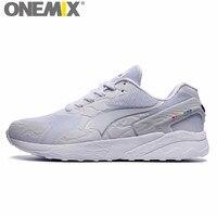 Onemix Elemento Popular Retro Running Shoes for Men Run Zapatos Blanco Nueva Mujer Caminando Zapatillas de deporte de Las Mujeres Entrenadores Deportivos 87 90