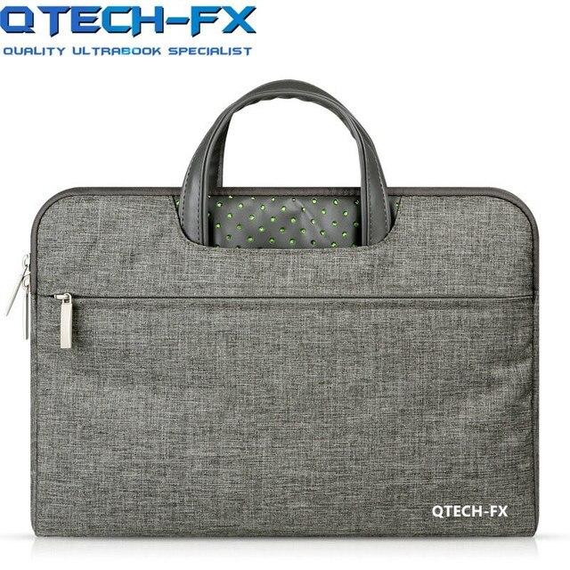 2018 Fashion Laptop Handbag 13.3/14/15/15.6inch Men Women Canvas Briefcase for QTECH Lenovo HP Dell Notebook Computer Gift Pink