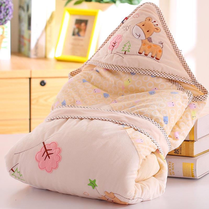 Newborn holds baby cotton small parisarc 100% autumn and winter baby spring and autumn blankets candle newborn baby swaddle wrap parisarc 100