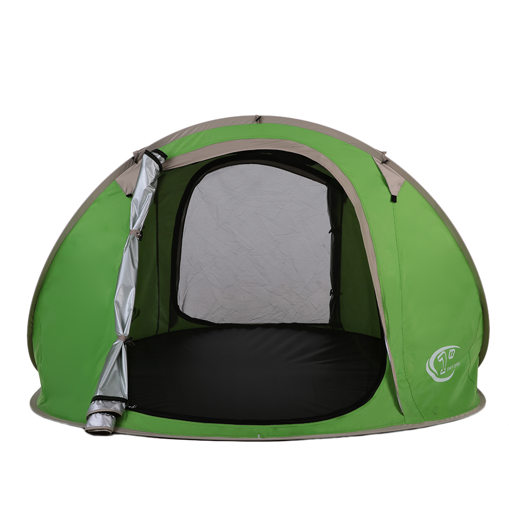 Camp Sleeping Gear Outdoor Camping Gear 70*210cm Polyester Travel Sleeping Bag+automatic Instant Pop Up Hiking Tent 240 *180*100cm For 3-4 Persons Moderate Price