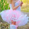 Alta calidad girls tutu falda de encaje niña faldas de baile niños gasa vestido de bola de Los Niños ocasionales de venta caliente de los niños del partido falda