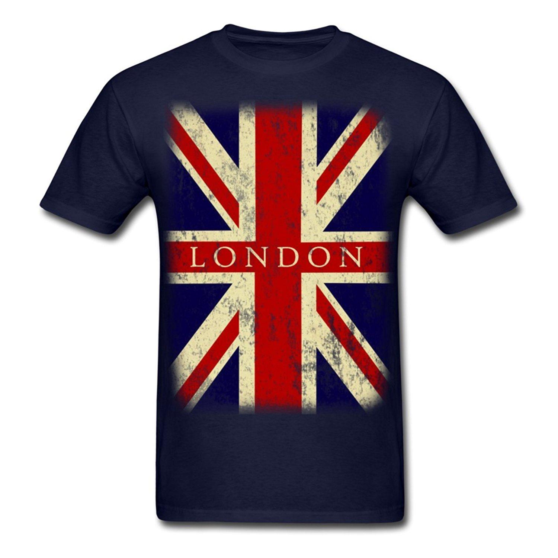 2017 new fashion vintage uk london flag men 39 s t shirt 100 for Retro t shirts uk