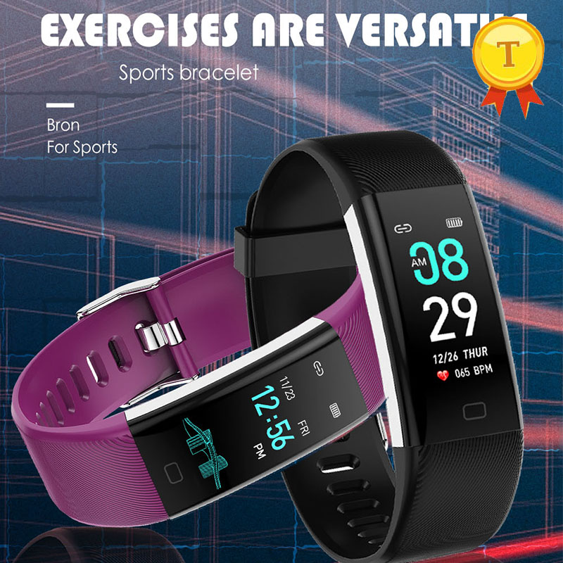 2019 newest ip68 smart bracelet Real Time Heart Rate Blood Oxygen Blood Pressure Monitor Smartband Pedometer