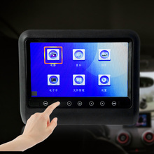 9'' Inch Car Headrest DVD Player Touch Screen Auto Monitor Video Game FM IR Touch Button USB SD xst 2pcs 7 inch 800 480 tft lcd capacitance screen car headrest monitor dvd video player support ir fm usb sd speaker wire game