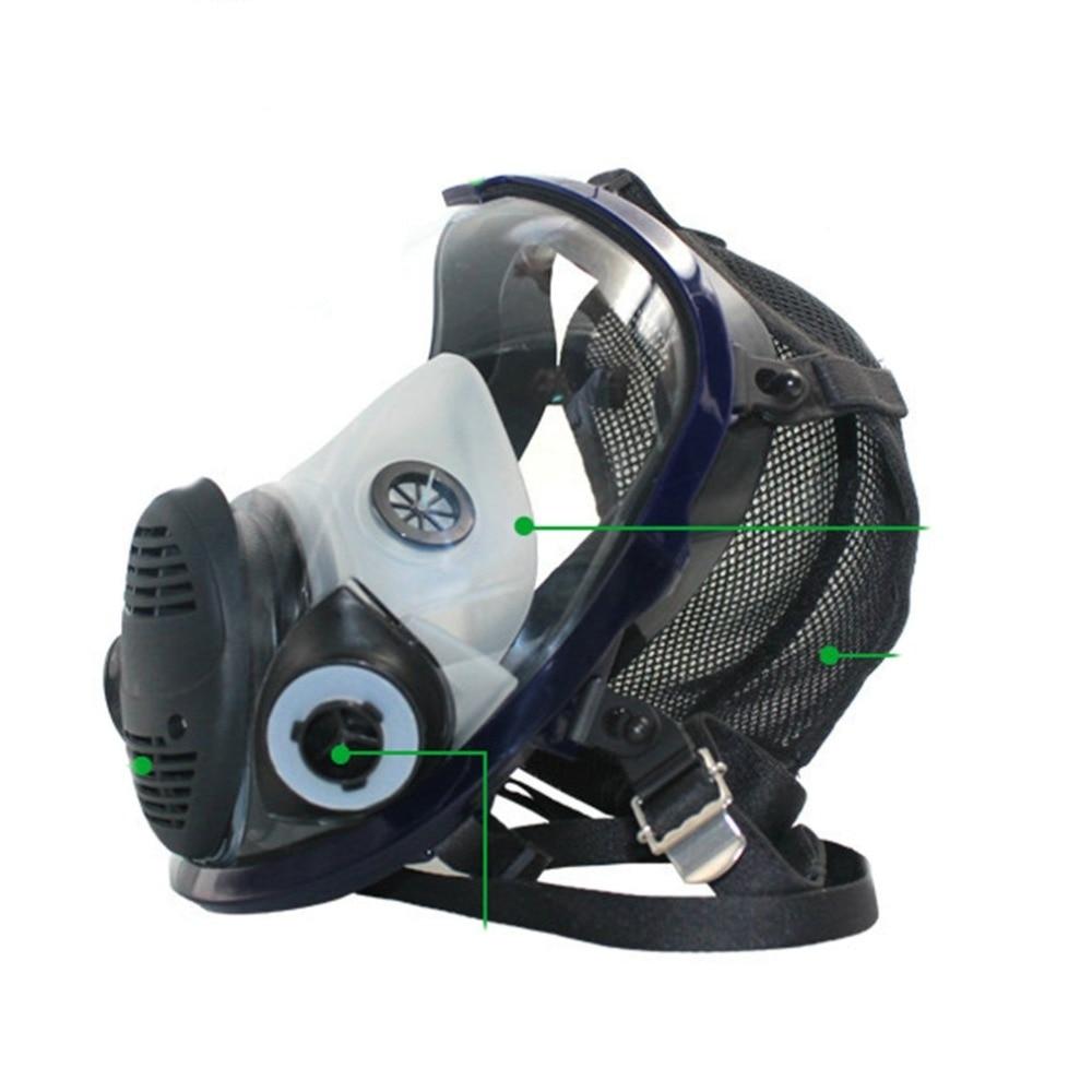 Masque chimique léger Anti-gaz masque Anti-poussière acide respirateur peinture Pesticide Spray Silicone filtre vélo masque facial