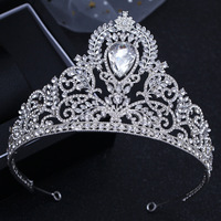New Design Gorgeous Pageant Tiaras Hairband Crystal Bridal Big Crowns For Brides Wedding Hair Accessories Birthday Party Crown