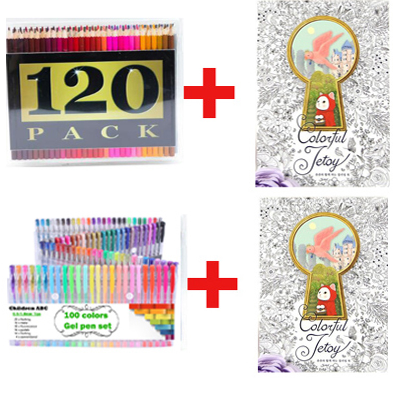 100 Color High Quality Neutral Pen Painting Hobby Secret Garden Know Painted Suit 120 Pencil