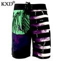 KXD В летом 2017 года новый мужской моды пляжные шорты бисером ювелирный дизайнер плед шорты большой размер