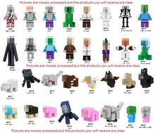 Single Sale Minecrafted Building Blocks Zombie PigMan Steve Alex Skeleton My World Figure Bricks Toy kids gift Compatible Legoed(China)