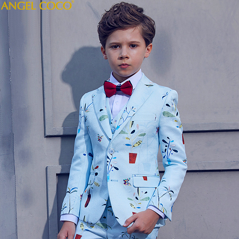 High-end Custom Suit For Boy Single Breasted Boys Suits For Weddings Costume Enfant Garcon Mariage Boys Blazer Jogging Garcon single breasted lapel flap pocket business blazer