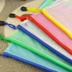 DHL expédition rapide, 200PC étanche grille fermeture éclair sac Document stylo produits de classement poche dossier bureau fournitures scolaires