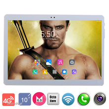 2018 New 10 inch 4G LTE Tablets Octa Core Android 7.0 RAM 4GB ROM 64GB Dual SIM Cards 1920*1200 IPS HD 10.1 inch Tablet PCs+Gifs