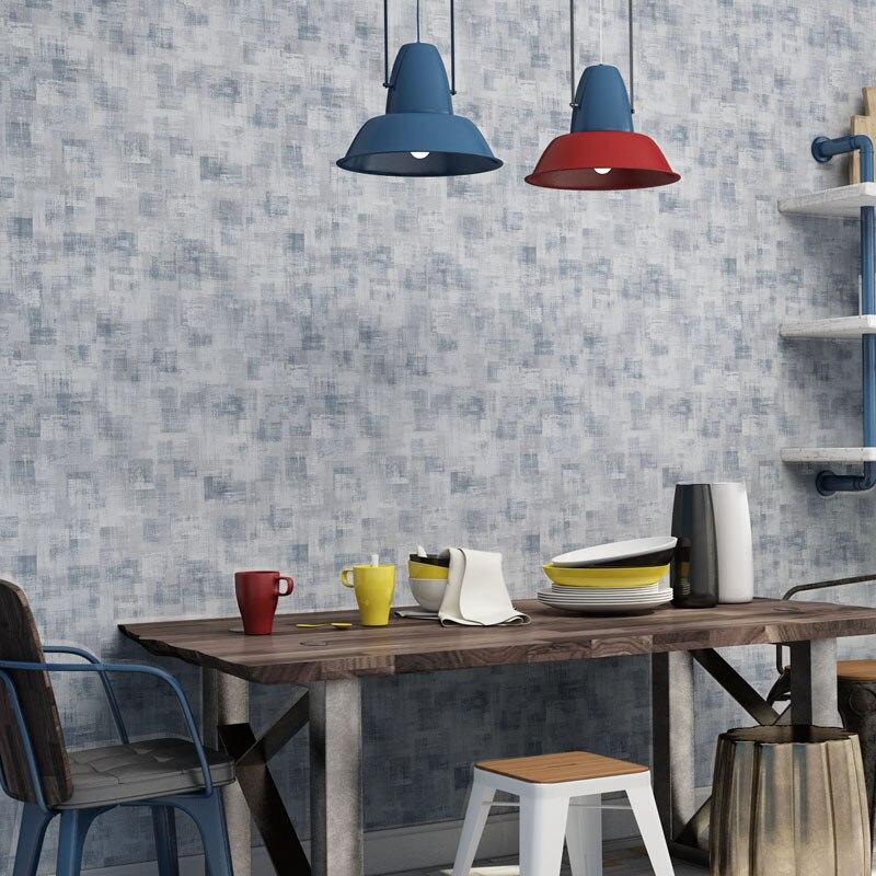 Ретро промышленно развитых винтажные красные Обои сплошной цвет нетканые лофт настенные рулон бумаги для стен обоев Papel де Parede