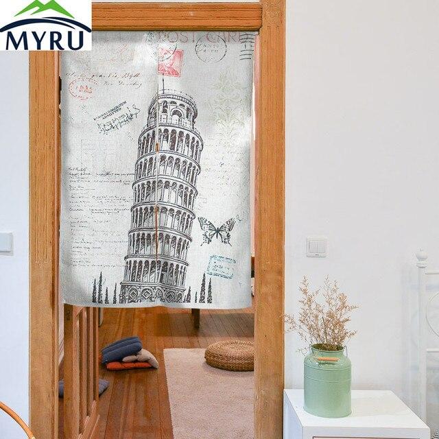 Myru Europäischen Stil Turm Von Pisa Tuch Tür Vorhang Feng Shui, Haus  Raumgestaltung