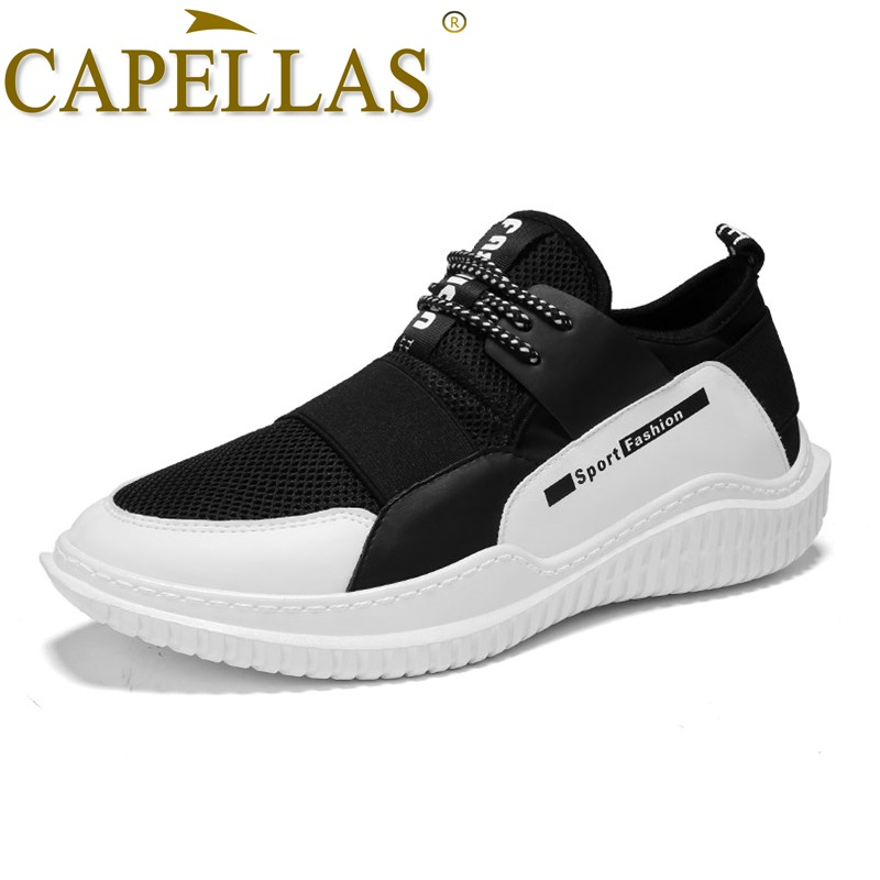 CAPELLAS High Quality Sport Designer Men Canvas Shoes Bretahable Men`s Casual Shoes Fashion Summer Shoes for Men Shoes Zapatos
