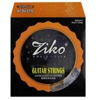 ZIKO гитарные струны покрытие акустические струны. 011-.050/. 012-.053 дюймов шестиугольное титановое покрытие из сплава Фосфорная бронза