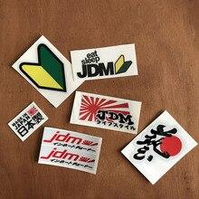 JDM Racing emblem Japanese text style Car reflective sticker for toyota honda nissan mazda mitsubishi suzuki accessories цена и фото