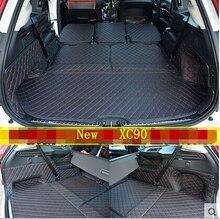 Bonnes tapis! spécial tronc tapis pour Volvo XC90 5 sièges 2018-2015 étanche cargo liner boot tapis pour XC90 2016, livraison gratuite