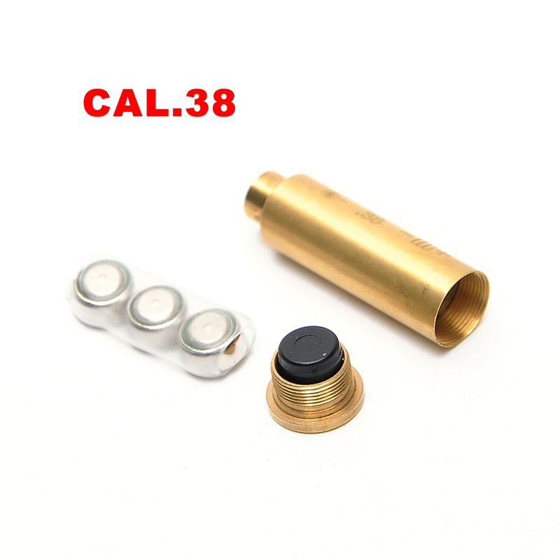 Tactical Accessories CAL.38 Cartridge Calibration Instrument Red Laser Boresighter Collimator for Hunting Rifle