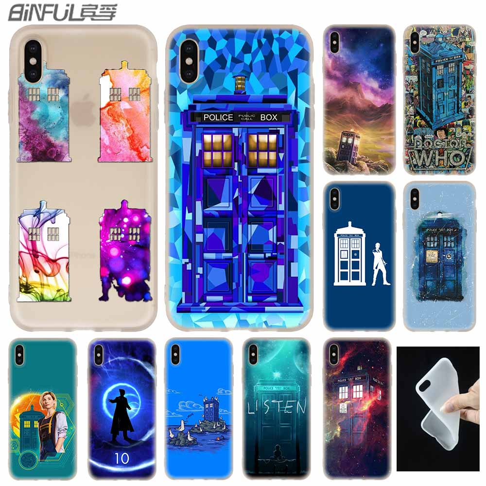 Tardis Box Doctor who Cover Case Silicone soft for iPhone X XS Max XR 6 6S 7 8 Plus 5 5S SE 9 Phone Cases