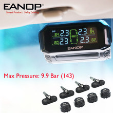 EANOP S600 Solar TPMS USB Wireless Tire Pressure Monitoring System Tyre Pressure Alarm PSI/BAR 4pcs External/Internal sensor(China)