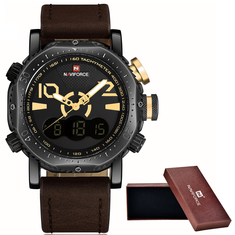 NaviForce Watches Men Luxury Brand Fashion Casual Watch Quartz Clock Men Sport Watches Men s Leather
