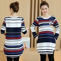 Casual Knitted Cotton Maternity T Shirt Tees Spring & Autumn Pregnancy Blouse Long Sleeve Tops Clothes for Pregnant Women B290