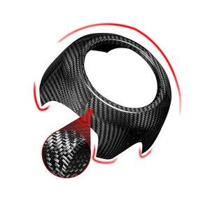 Image 4 - carbon fiber Modification Accessories Steering wheel center decoration car styling For MINI COOPER Clubman S F54 F55 F56 F57 F60