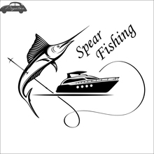 Pegatina Swordfish Fish Car Decal Go Fishing Posters Boat Yacht Decals Decor Mural Wall Sticker Angling Hooks Shop Vinyl