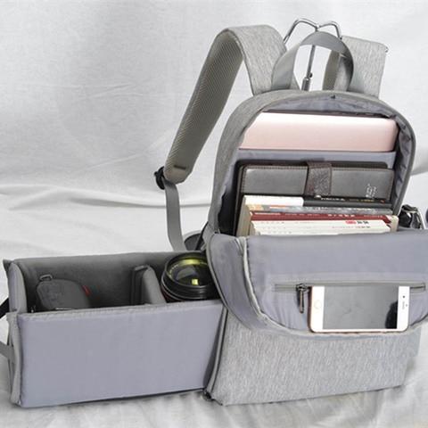 "Camera Bag Digital Camera Videos Bag Waterproof Laptop 14"" School Casual Photo Bag for Canon Nikon Sony Camera Backpack Pakistan"