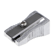 superior High Quality Metal Silver Bevelled Single Hole Pencil Sharpener School Office Sharpener Stationery