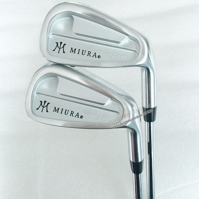 New mens Miura Golf Clubs CB-501 Golf Irons set 4-9.P Clubs Project X Steel Golf shaft Right Irons clubs Free shipping Cooyute new taylormade 2014 tour preferred cb 6 piece iron set steel