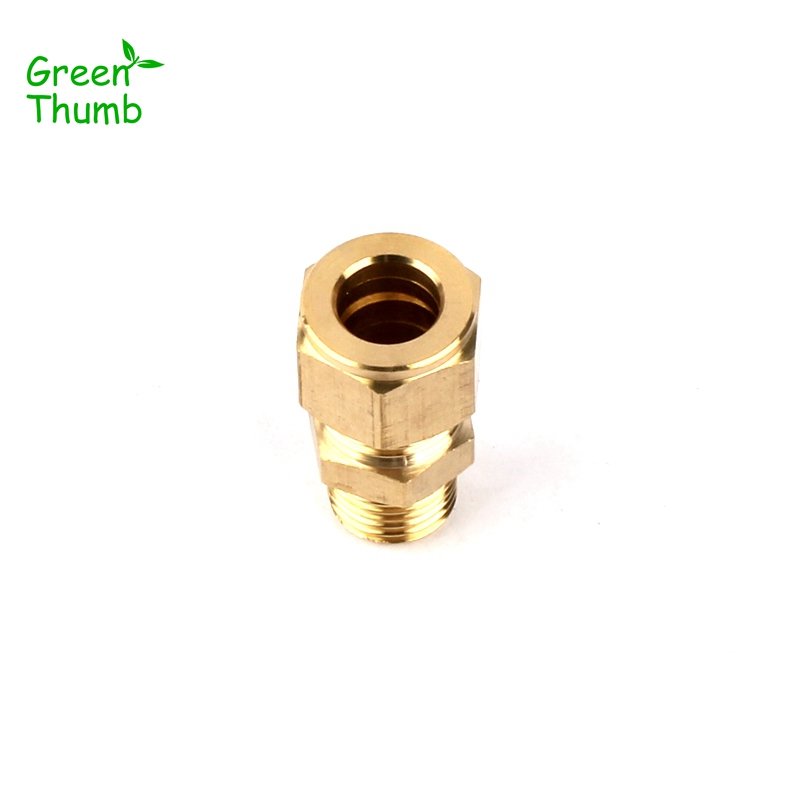 20pcs Inner Diameter 9 5mm Metal Adapters Male Thread Brass Quick Connector for Horticulture Spray High
