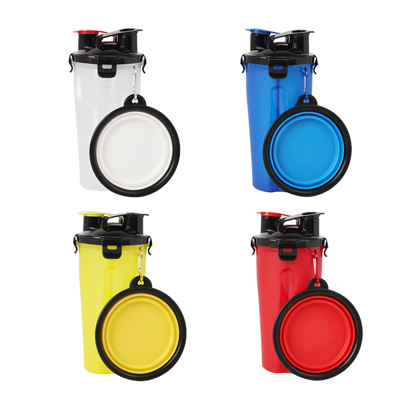 Portable Water Bottle And Bowl For Your Dog: Pet's Portable Feed And Water Bottle With Collapsible Bowl