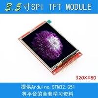 Módulo de 3.5 polegadas tft lcd com driver do painel de toque ili9488 320x480 spi porta serial interface (9 io) toque ic xpt2046 para ard stm32|Módulos LCD| |  -